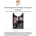 British Designer Paul Cocksedge: 'You Respond to...