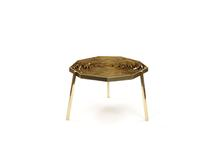 Fitas Table, 2013 Brass 15.51 x 39.37 x 39.37 inch...
