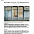 Watch this space: the best NYC art galleries to kn...