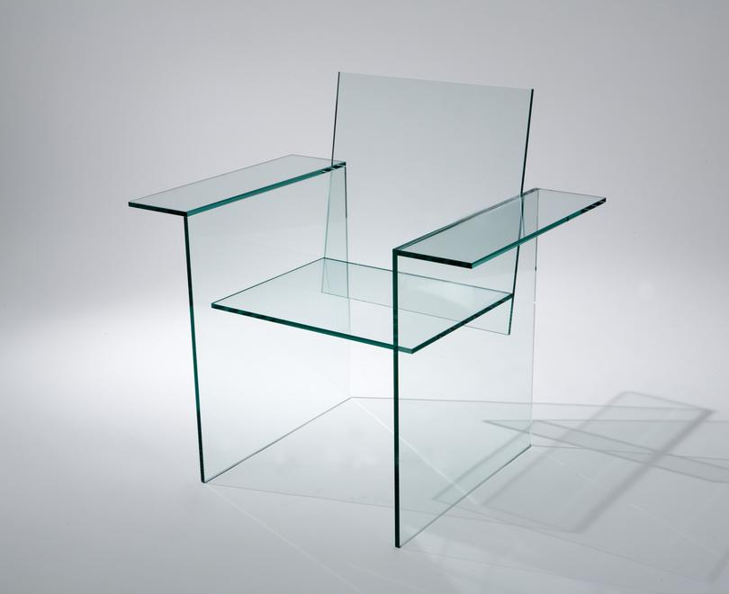 Shiro Kuramata [Japanese, 1934-1991] Glass Chair,...