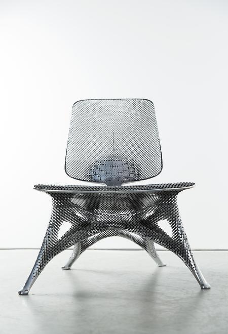 Microstructures (Aluminum Chair), 2014 Aluminum 28...