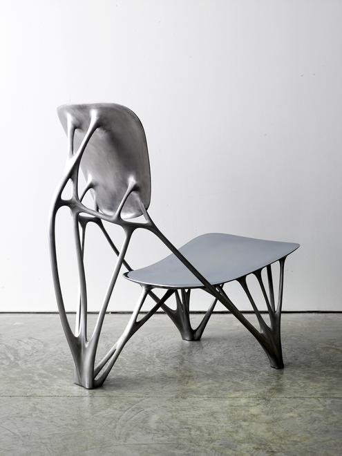 Bone Chair, 2006 Aluminum 29.5 x 17.5 x 30 inches...
