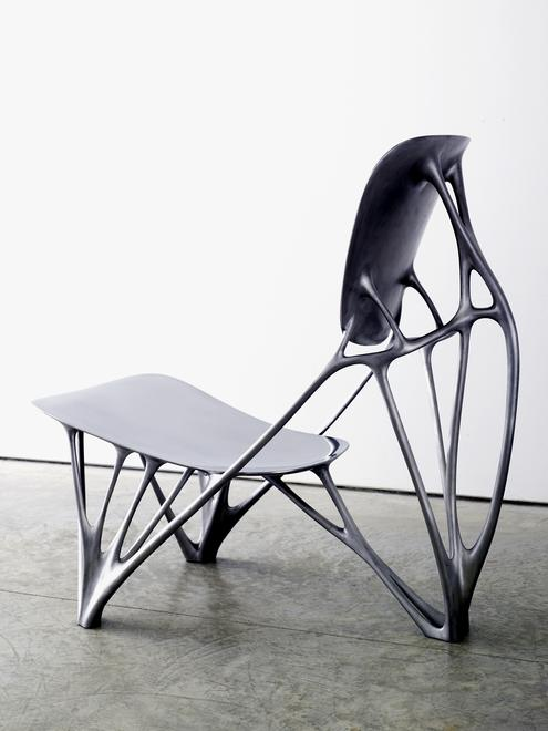 Bone Chair, 2006 Aluminum 17.72 x 30.31 x 29.92 in...