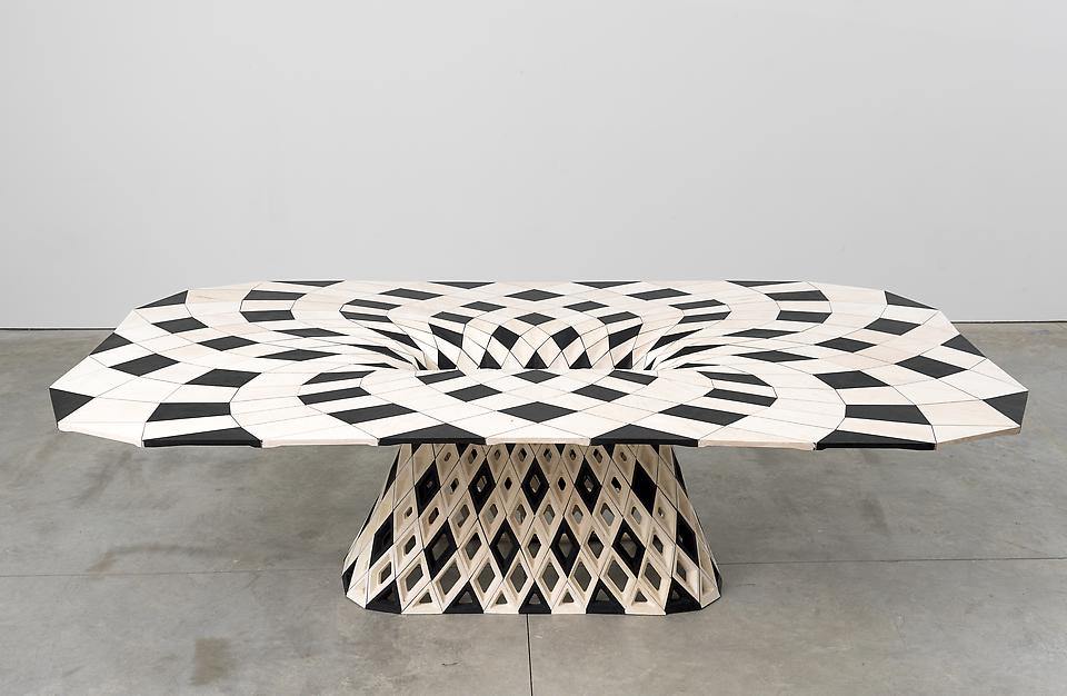 Maker Table (Diamond), 2014 Hard maple 29.53 x 96....