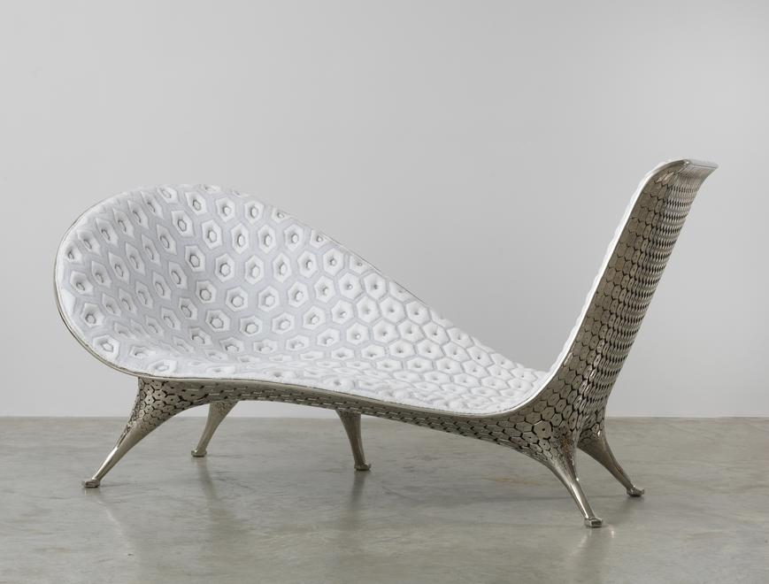 Microstructures Chaise, 2015 Copper and nicked pla...