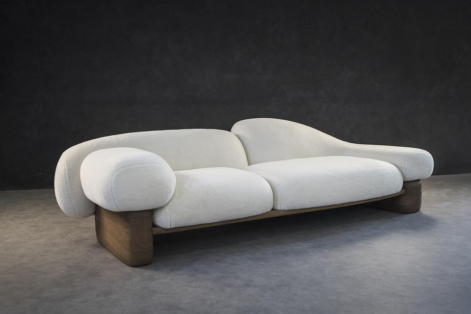 Acrostic (Overlay), 2020 Cashmere, silk, oak 33 x...