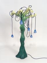 Plantasia Tree Lamp 01, 2020 Metal mesh, steel, wo...