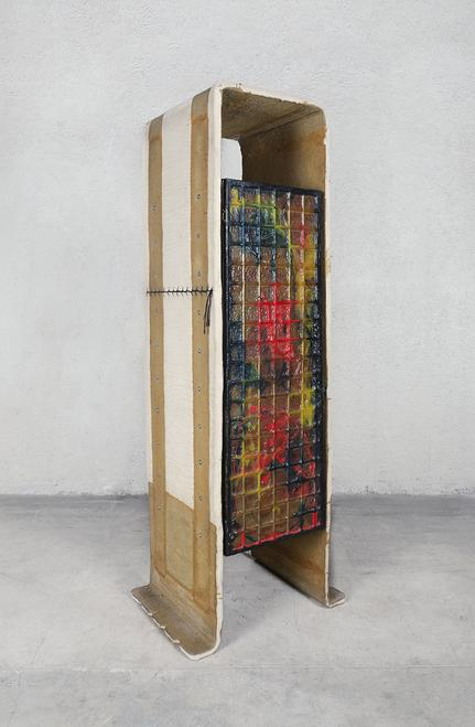 Felt Chest and Closet, 1987 Felt, resin, epoxy, wo...
