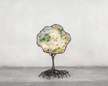Tree Lamp, 1992 Polychrome urethane, steel, papier...