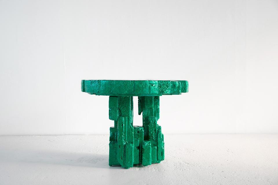 Spore, 2018 Steel, resin, polystyrene, aluminum fo...