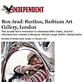 Ron Arad: Restless, Barbican Art Gallery, London