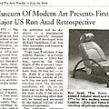 Museum of Modern Art Presents First Major US Ron A...