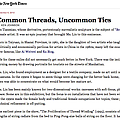Common Threads, Uncommon Ties
