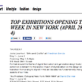Top Exhibitions Opening this Week in New York