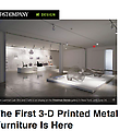 The First 3-D Printed Metal Furniture is Here
