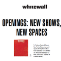 Openings: New Shows, New Spaces