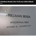 Galerie Friedman Benda à New York avec Julien Sal...
