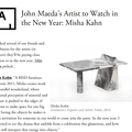 John Maeda's Artist to Watch in the New Year: Mi...