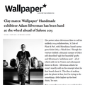 Clay mates: Wallpaper's Handmade exhibitor Adam...