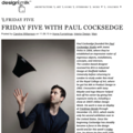 Friday Five with Paul Cocksedge - Press