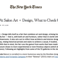 Review: At Salon Art + Design, What to Check Out -...