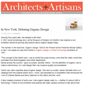 In New York, Debating Organic Design