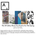 The 50 Gallery Shows You Need to See This Spring -...