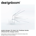 nendo designs 50 chairs for friedman benda influen...