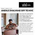 Andile Dyalvane off to NYC - Press