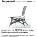 Joris Laarman Lab 3D Prints Aluminum Chair demonst...