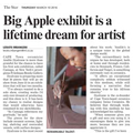 Big Apple exhibit is a lifetime dream for artist -...