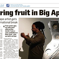 Bearing fruit in Big Apple - Press