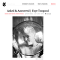 Asked & Answered - Faye Toogood - Press
