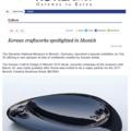 Korean Craftworks Spotlighted in Munich - Press
