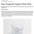 Faye Toogood s'expose à New York - Press