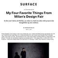 My Four Favorite Things from Milan's Design Fair...