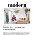 Midden Heap: Misha Kahn at Friedman Benda - Press