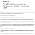 Wendell Castle, whose art was furniture and furnit...
