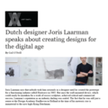 Dutch Designer Joris Laarman Speaks About Creating...