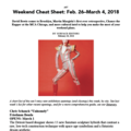 Weekend Cheat Sheet: Feb. 26–March 4, 2018
