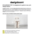 NYCxDESIGN TOP 10: designboom's Guide to New York...