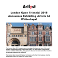 London Open Triennial 2018 Announces Exhibiting Ar...