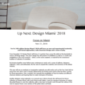 Up Next: Design Miami/ 2018 - Press