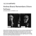 Andrea Branzi Remembers Ettore Sottsass - Press