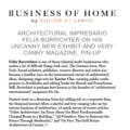 Architectural Impresario Felix Burrichter on his U...