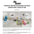 Friedman Benda showcases furniture pieces with a s...
