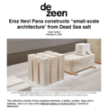 "Erez Nevi Pana constructs ""small-scale architectur..."