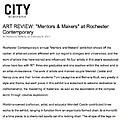 Mentors & Makers at Rochester Contemporary