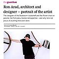 Ron Arad, architect and designer - portrait of the...
