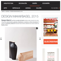 Design Miami/ Basel 2015